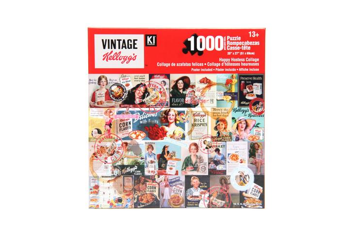 Vintage Kellogg's 1000 Piece Puzzle - Happy Hostess Collage