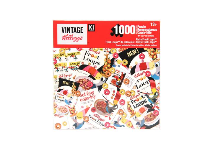 Vintage Kellogg's 1000 Piece Puzzle - Retro Froot Loops