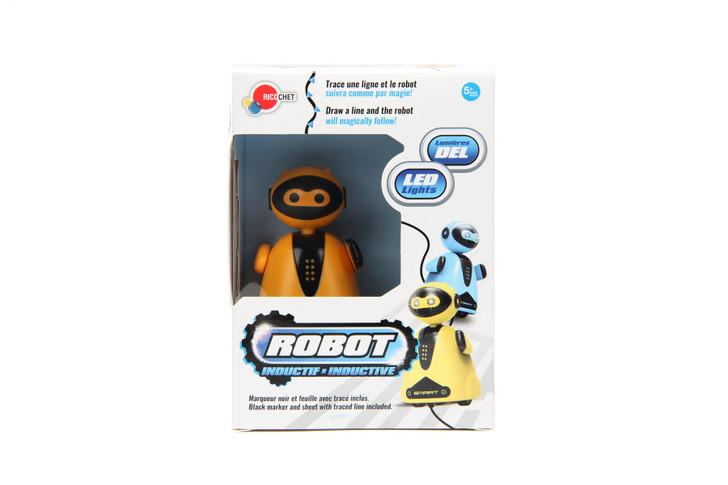 Inductive Bots - Robot Toy with LED Light - Orange