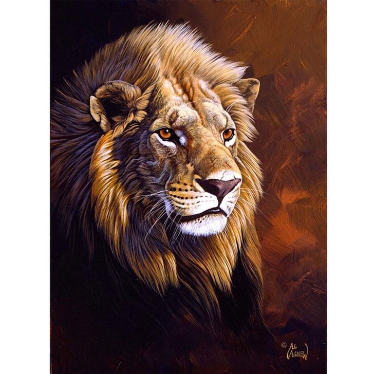Paint By Diamond Set - Lion study