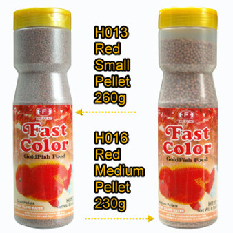 Hai Feng's Fast Color pellets for goldfishes are available in mini & medium pellets!