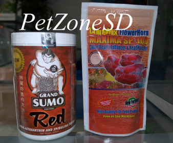 ChingMix & Grand Sumo Flowerhorn Food Combo For Color & Growth 675g