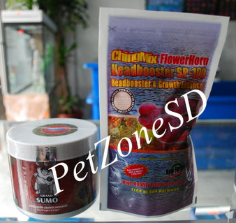 ChingMix & Grand Sumo Flowerhorn Food Combo For Head Growth 375 grams
