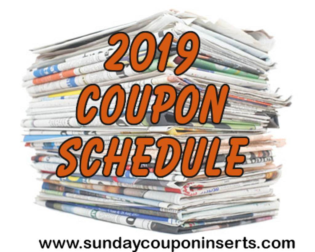 2019 Coupon Schedule