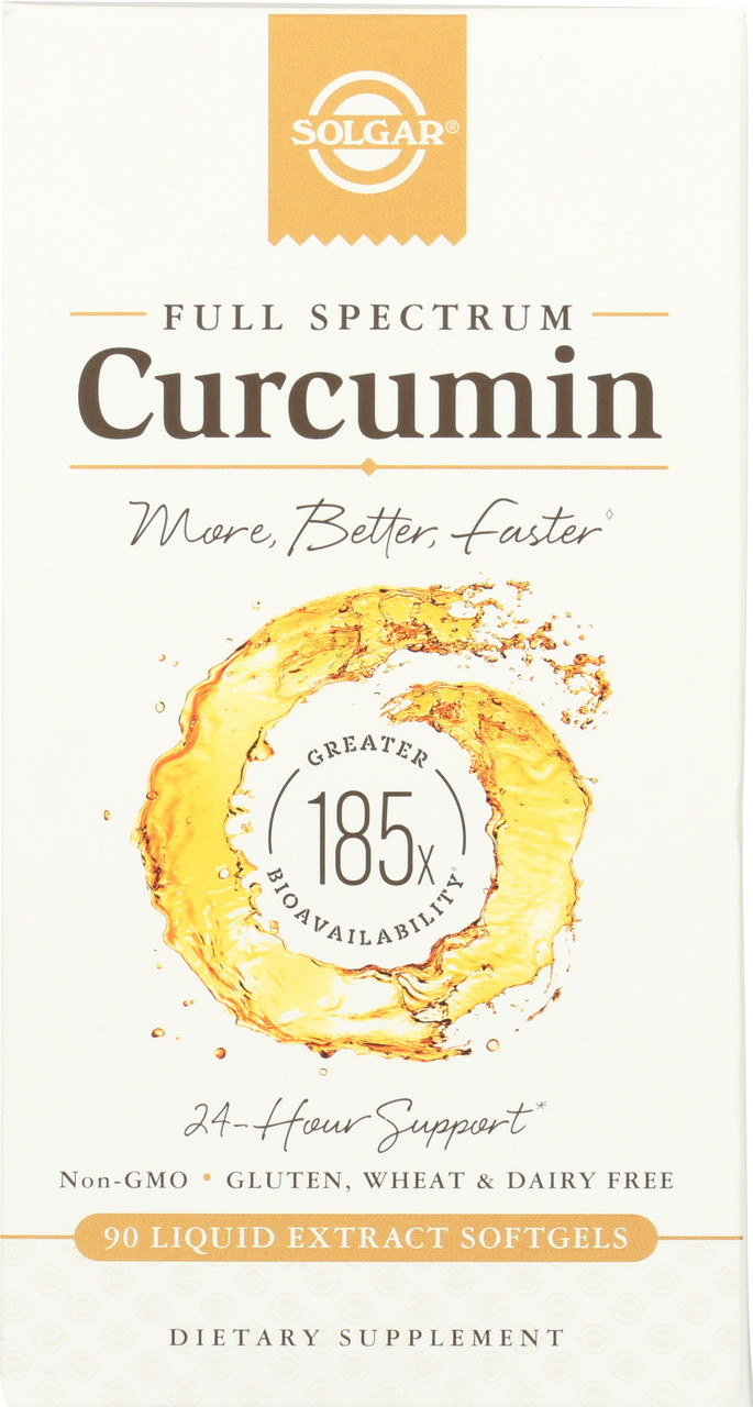Curcumin Full Spectrum 185x 24 Hour Support 90 Softgels