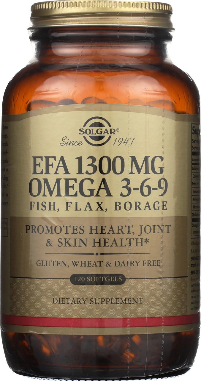 Efa 1300mg Omega 3 6 9 120 Softgels Buyvites Com