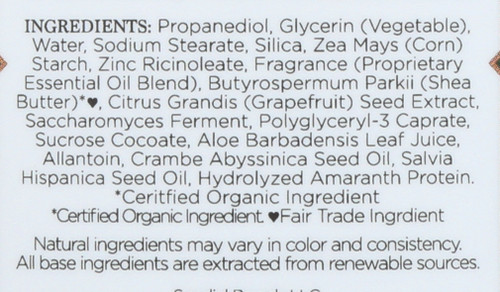 Deodorant Abyssinian Oil & Chia Seed 24 Hour 2.25 Ounce 64 Gram