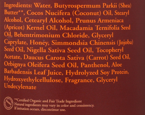 Conditioner Honey & Black Seed With Babassu, Carrot & Macadamia Nut Oil 12 Fluid Ounce 358 Ml