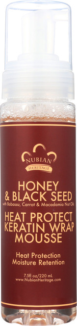 Heat Protect Keratin Wrap Mousse Honey & Black Seed