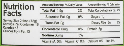 Organic Powdered Peanut Butter  6.5 Ounce 184 Gram