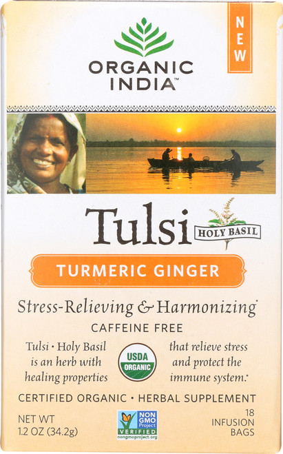 Tulsi Tea Turmeric Ginger