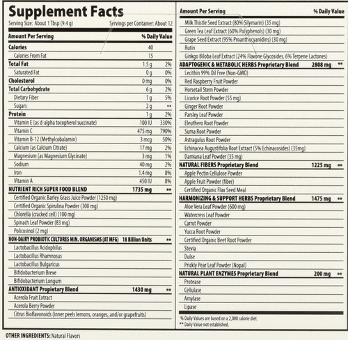 Macro Greens® Superfood Powder 12 Single Servings Packet Box 12 Packets 4oz