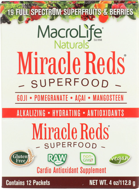 Miracle Reds® Superfood Powder 12- Single Srv Packet Box