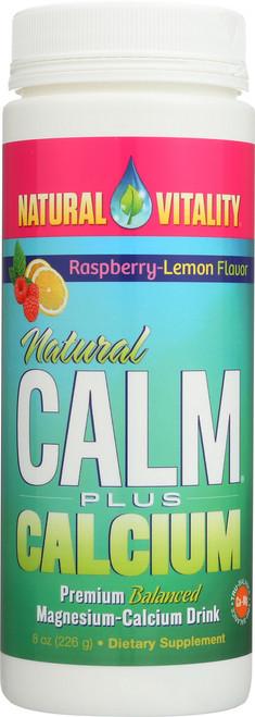 Natural Calm Plus Calcium Raspberry-Lemon Flavor