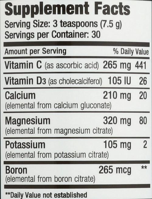 Natural Calm Plus Calcium Raspberry-Lemon Flavor Magnesium-Calcium Drink 8oz 226 G