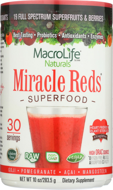 Miracle Reds® Superfood Powder 30-Srv Container