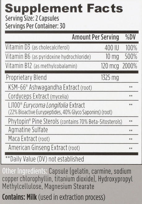 Mdrive Classic Natural Testosterone Support 60 Capsules