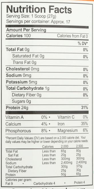 Organic Rice Protein Powder Original - 1 Lb Chocolate Power Organic 16.2oz 1.01 Lb