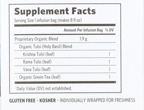 Tulsi Tea Green Holy Basil 18 Bag 1.21oz