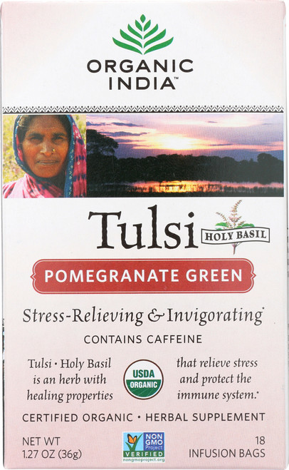 Tulsi Tea Pomegranate Green