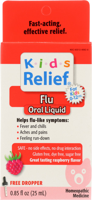 Kids Relief Flu Raspberry Flavor