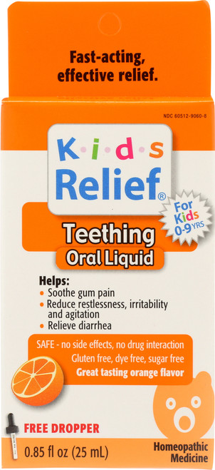 Kids Relief Teething Orange Orange Flavor