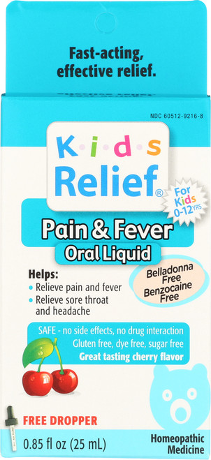 Kids Relief Pain Fever Cherry Flavored Cherry Flavor