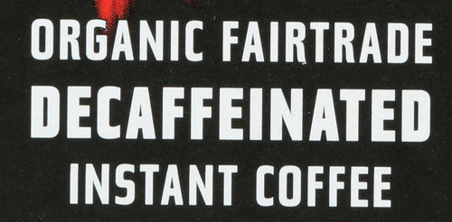 Decaffeinated Instant Coffee Freeze-Dried Organic Fairtrade 25 Each 1.76oz