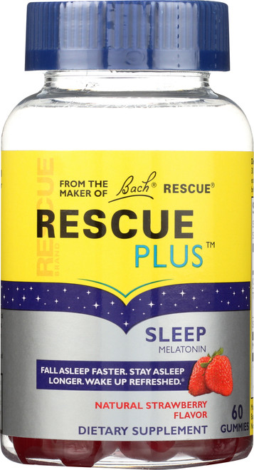 Rescue Plus™ Sleep Gummy Natural Strawberry Flavor Gummy