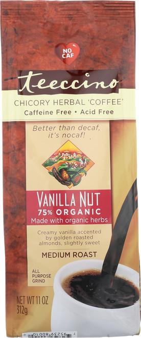 Chicory Herbal Coffee Alternative Vanilla Nut 75% Organic