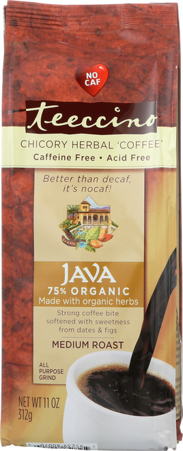 Chicory Herbal Coffee Alternative Java 75% Organic