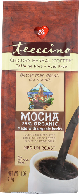Chicory Herbal Coffee Alternative Mocha 75% Organic