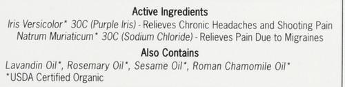 Migraine Topical Migraine Medicine Rollerball Applicator 0.14oz 4 Ml