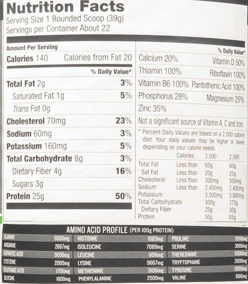 Protein Powder Mix Chocolate Fudge Whey Advanced 1.85 Lb 840 G