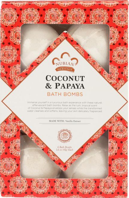 Bath Bombs Coconut & Papaya