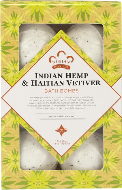 Bath Bombs Indian Hemp & Haitian Vetiver