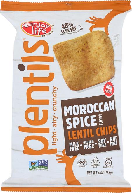 Plentils Lentil Chips Morrocan Spice