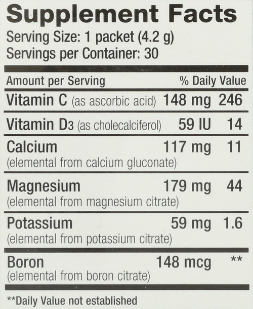 Natural Calm Plus Calcium Raspberry-Lemon Flavor 30 Packs 0.15oz
