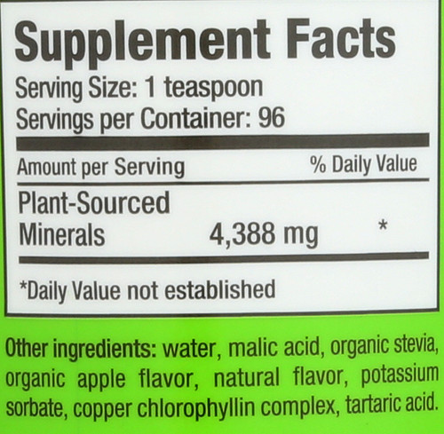 Plant Sourced Minerals Green Apple Concentrated 16 Fl oz 473 Ml