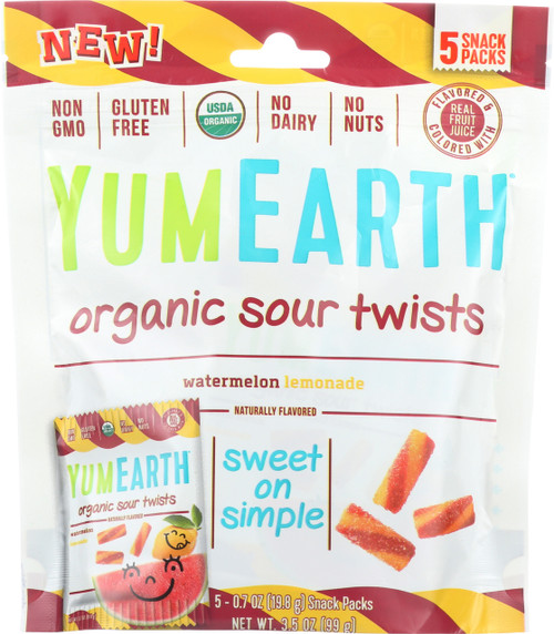 Organic Sour Twists Watermelon Lemonade