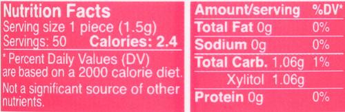 Xylitol Gum Bubble Gum Sugar-Free 50 Pieces