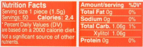 Xylitol Gum Orange-Mango Sugar-Free 50 Pieces