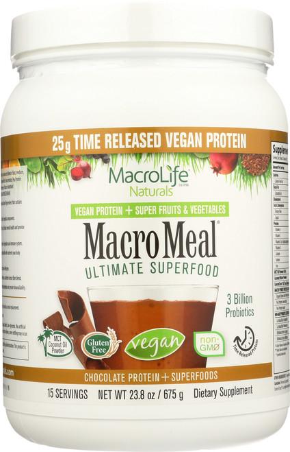 "Macromeal® ""Vegan"" Chocolate 15- Srv Container"