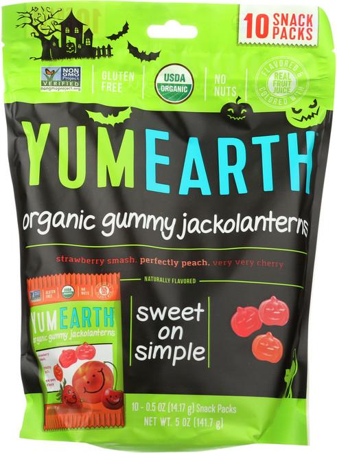 Organic Gummy Jackolanterns Pomegrante Pucker, Mango Tango, Perfectly Preach, Strawberry Smash