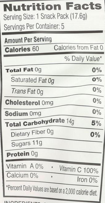 Fruit Snacks Raspberry, Pineapple & Mango Organic 3.1oz 88.9 G