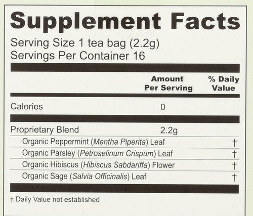 Organic No More Milk Tea Helps Reduce Breast Milk Production 16 Tea Bags 1.23oz