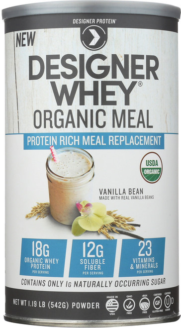 Protein Powder Meal Replacement Organic Whey Protein - Vanilla Bean