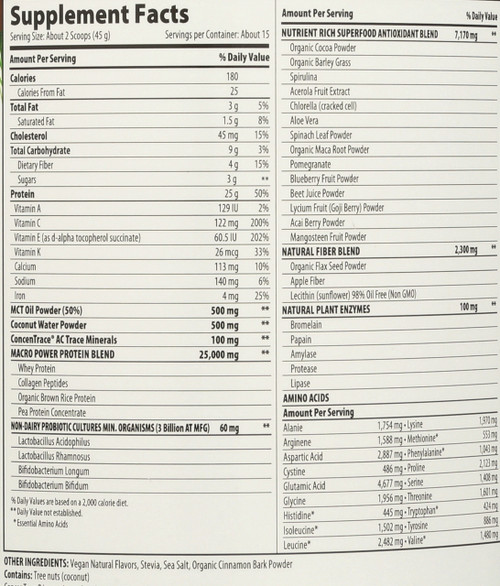 "Macromeal ""Omni"" Chocolate  23.8oz 23.8oz"