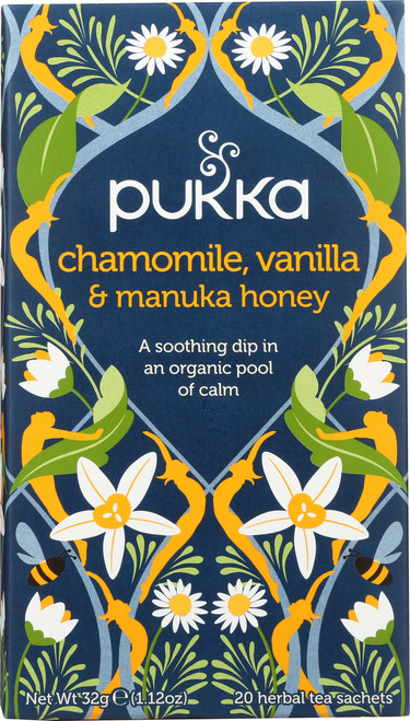 Organic Herbal Tea Chamomile, Vanilla, & Manuka Honey