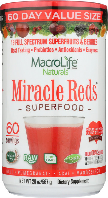 Miracle Reds® Superfood Powder 60-Srv Container